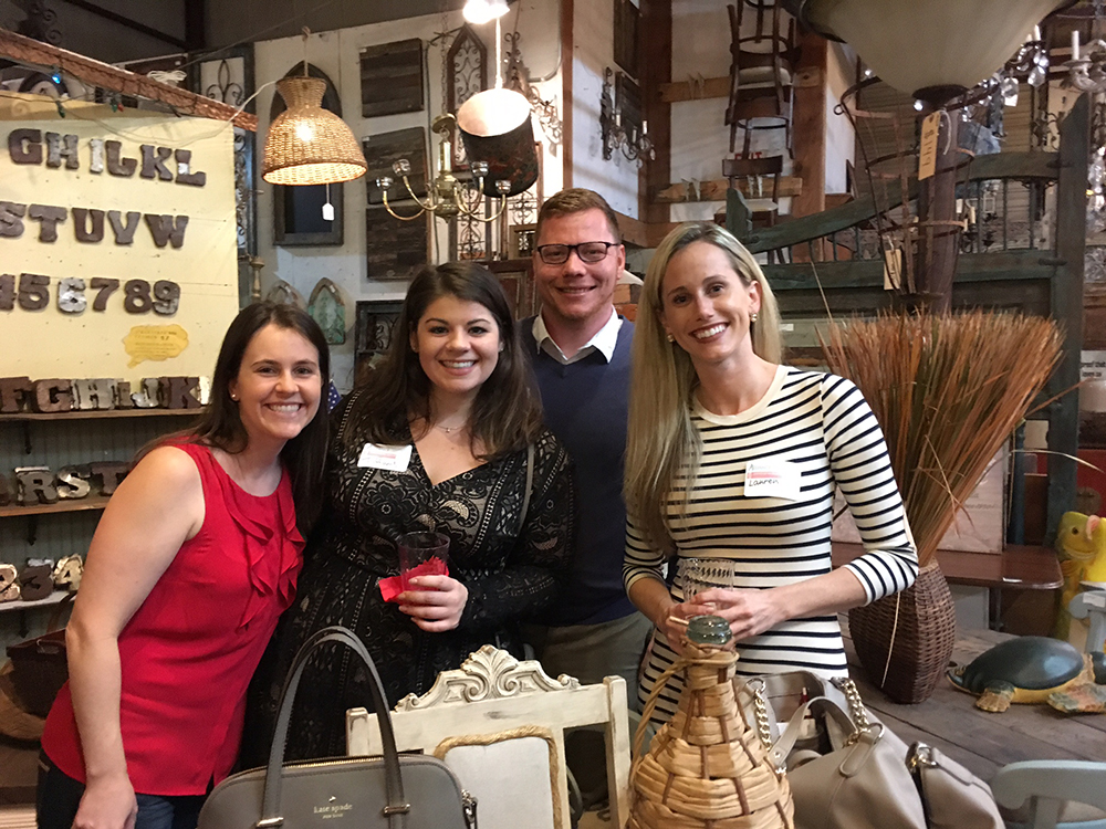 The 2017-17 Culture Collective members enjoy the season Kick-Off Holiday Party at Sarasota Architectural Salvage.