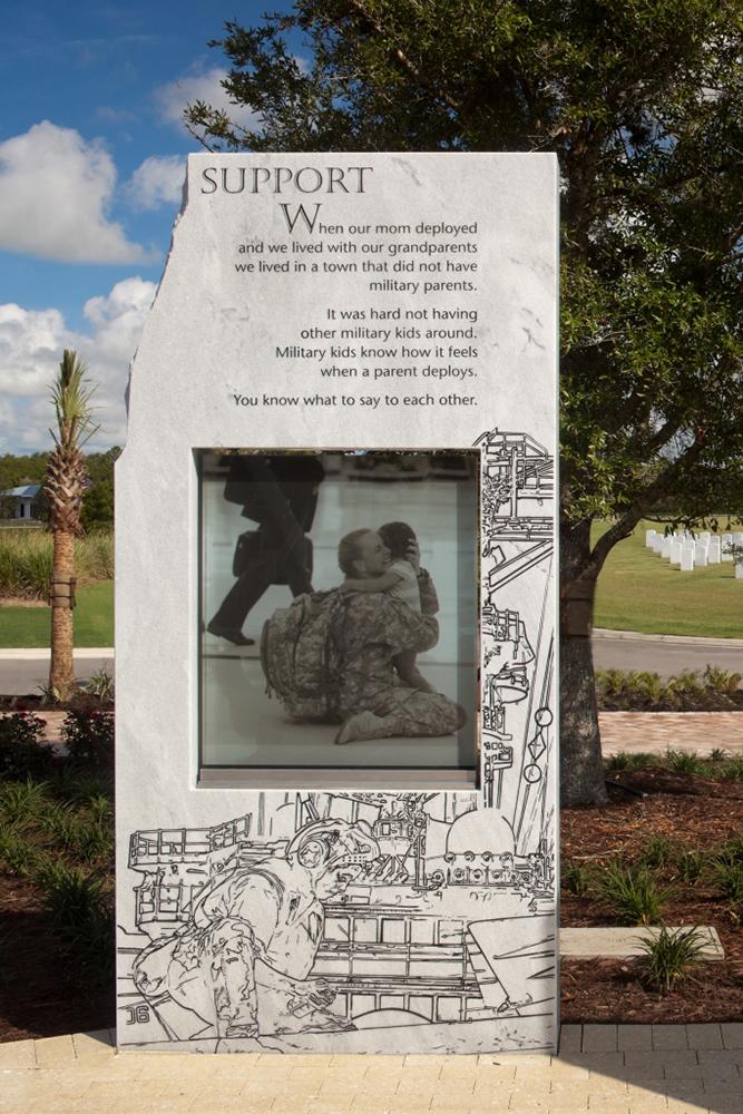 Memorial at Patriot Plaza at the Sarasota National Cemetery.