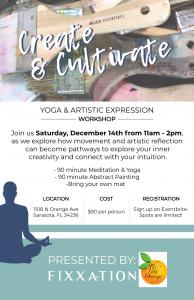 Create and Cultivate Yoga & Art Workshop